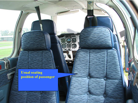 Figure 4: Seating configuration of aircraft