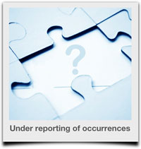 Under reporting of occurrences