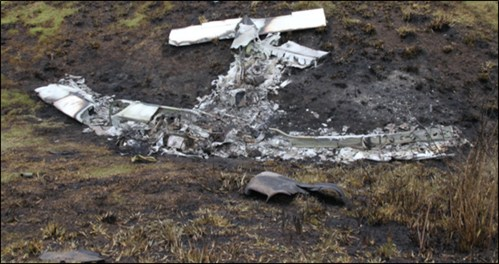 Aircraft wreckage