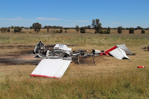Accident site of the Cessna 172, VH-TKI