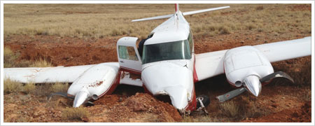 Piper PA-39 skidded off the end of the runway
