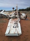Figure 11: Wreckage of the Cessna 182P in the vicinity of Mayvale Station, Qld