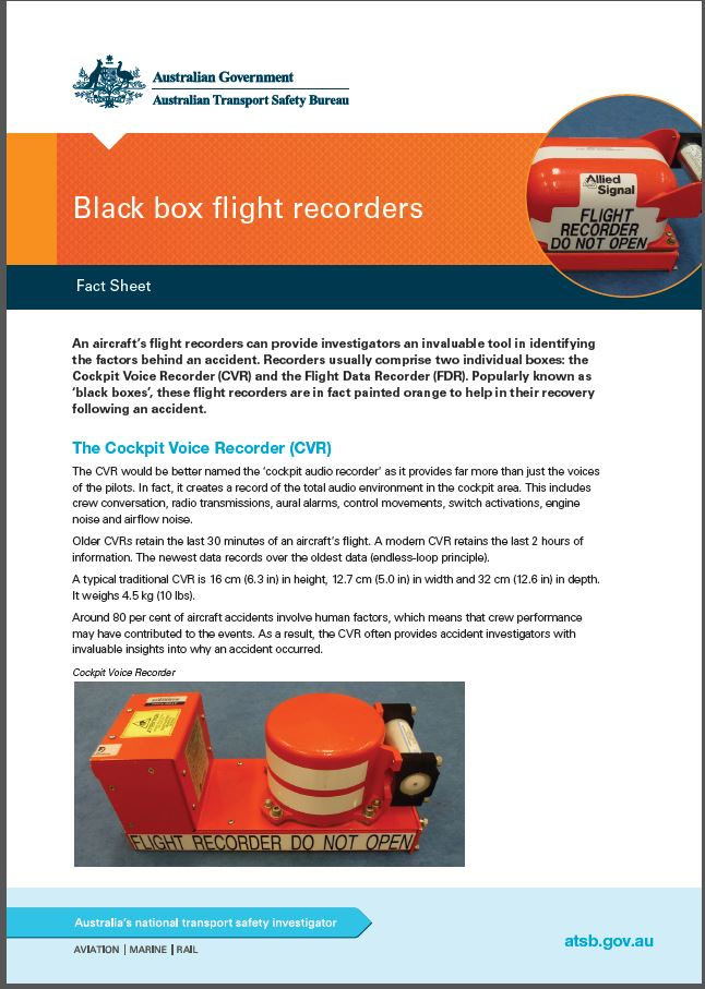 Download complete document - Black box flight recorders fact sheet