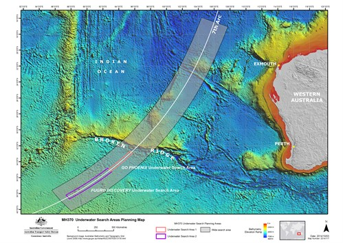 Underwater Search Areas 8 Oct 2014