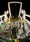 Night-time view from the stern of Fugro Discovery as she sails across the southern Indian Ocean.  Source: ATSB, photo by ABIS Chris Beerens, RAN