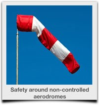 Safety around non-controlled aerodromes