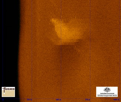 Figure 7: Side Scan Sonar - Category 1 contact – Initial survey line with Fugro DT-1 towfish