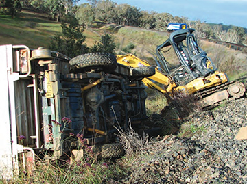 Collision between an XPT passenger train and a track-mounted excavator