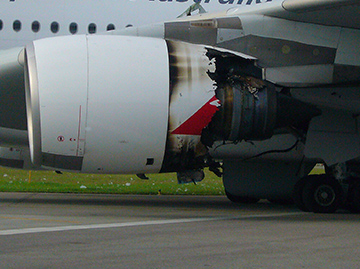 The oil feed pipe for the damaged Airbus A380