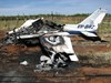 Wreckage of the Cessna C310R.  Source: ATSB