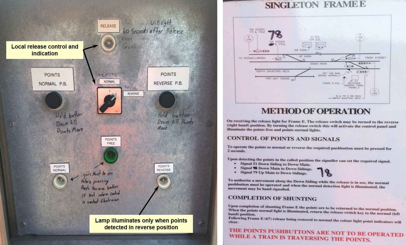 Figure 9: E Frame local panel faceplate and instruction sheet