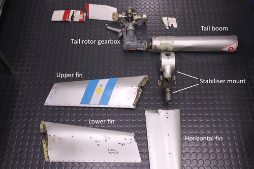 Figure A1: Dismantled tail rotor assembly components