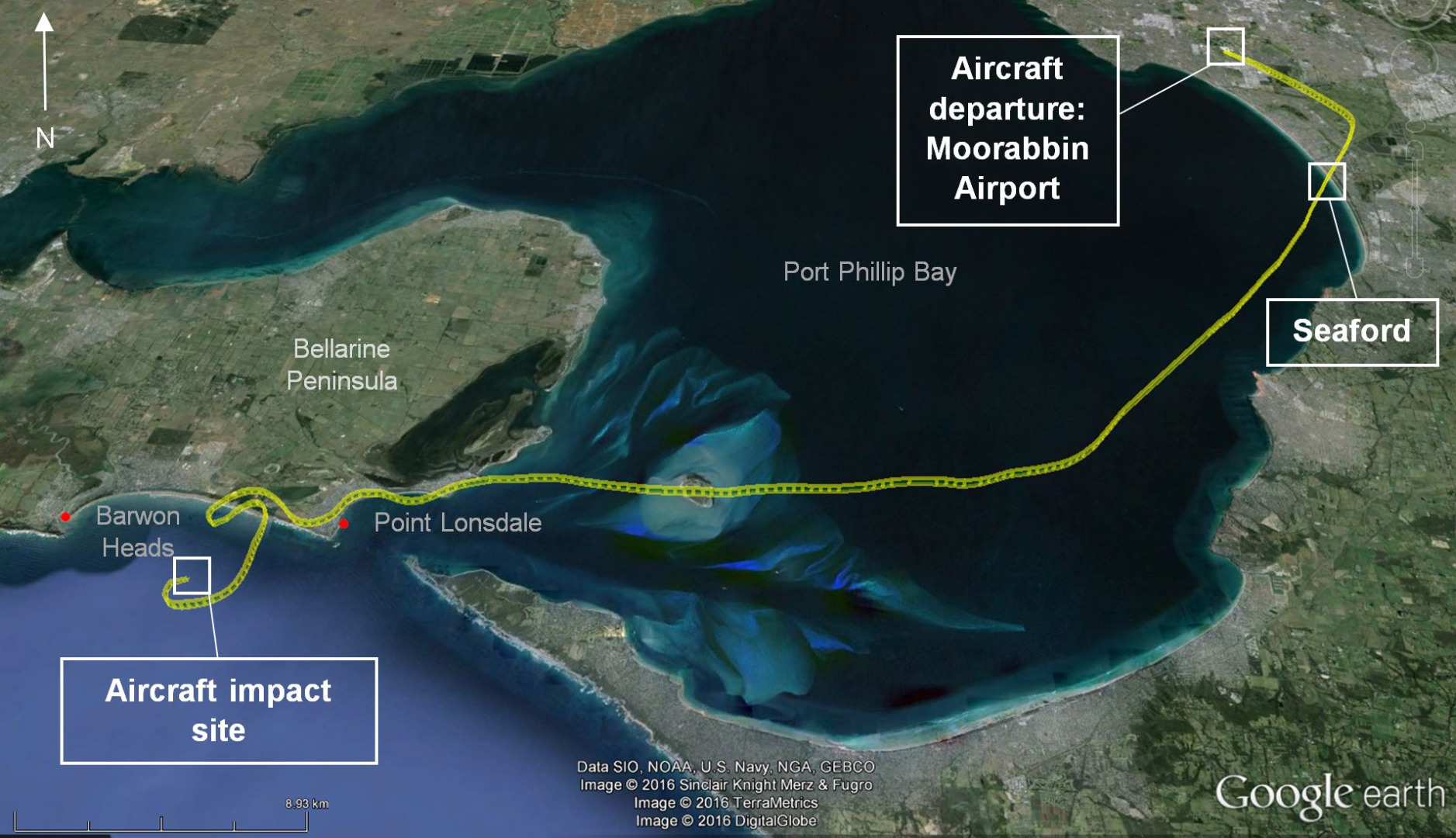 Investigation AO Loss Of Control And Collision With - Earth map show airplane travell from us to austrialia