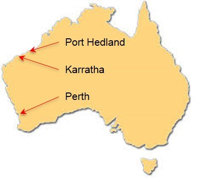 Map of Port Hedland