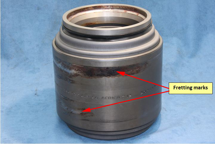 Figure 9: Partner bearing (position 4) serial number 302111. Source: ATSB