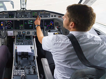 Generic image of commercial pilot