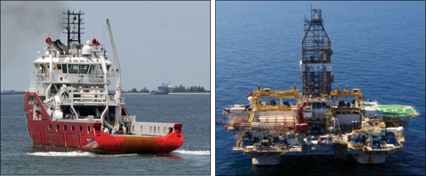 Figure 1: Skandi Pacific and Figure 2: Atwood Osprey