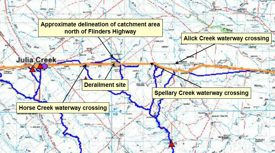Figure 11: Catchment Delineation Julia Creek area
