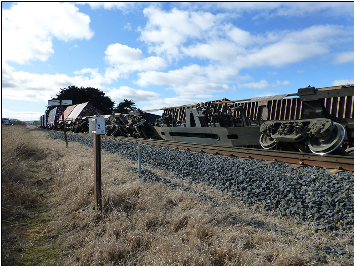 Derailed portion of train 532