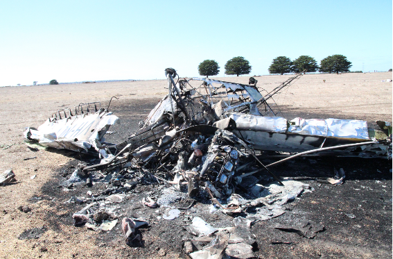 Collision with terrain of a Piper PA 25 near Darlington, VIC on 20 March 2015. Source: ATSB.