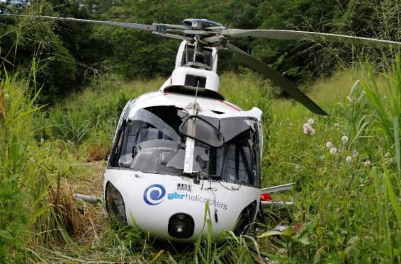 Collision with terrain following a forced landing of an Aerospatiale AS 350 at Whyanbeel Valley, QLD on 2 November 2015. Source: ATSB.