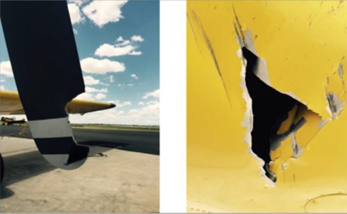 Collision with a pole involving an Air Tractor AT 502B near Dalby, QLD on 4 December 2015. Source: Aircraft operator.