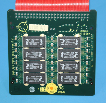 Figure 5: Memory board (removed from inside the crash-protected module)