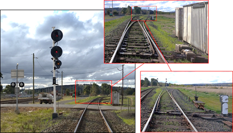 Figure 4: Approaching WLN 2 signal and 3 points into Wallan Loop road.