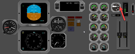 Figure 2: A screen capture from the operator's flight data showing the flap indicator positioned at 0 degrees while the aircraft was passing 1,000 feet on descent