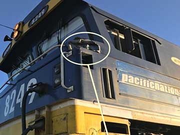 Damage to freight train 8426N