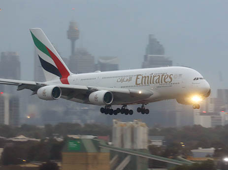 Emirates Airline A380 aircraft