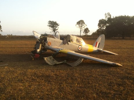 Figure 1: de Havilland DHC-1 post accident. Source: Supplied
