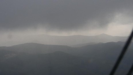 Figure 2: Image of weather conditions recorded at 1817 looking towards the Watagan Mountains. Source: Recovered camera. Copyright: Not to be reproduced.