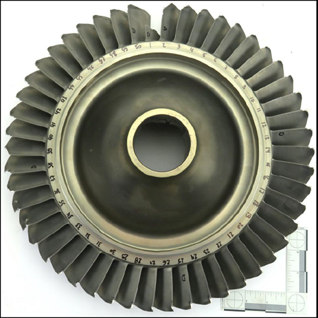 Figure 1: Upstream view of the low pressure compressor boost rotor. Source: Pratt & Whitney Canada