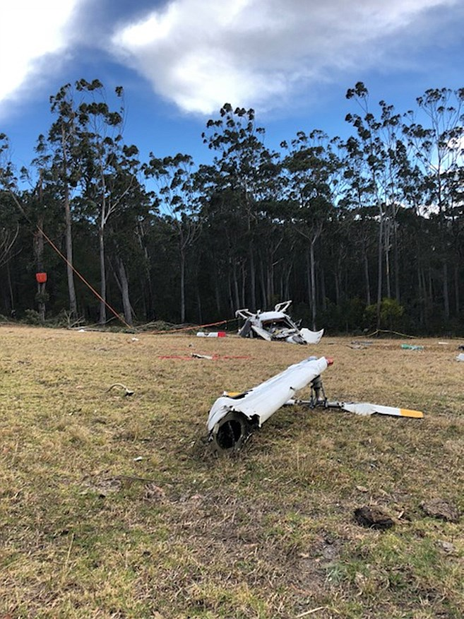 The accident site of MBB/Kawasaki BK 117, registered VH-JWB near Ulladulla area, NSW