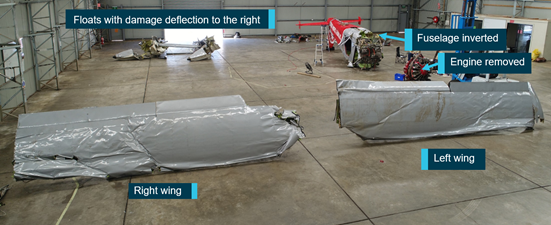 Figure 16: Wreckage examination. Source: ATSB