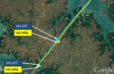 Two Cessnas were involved in near collision south-west of Darwin Airport on 6 December 2017