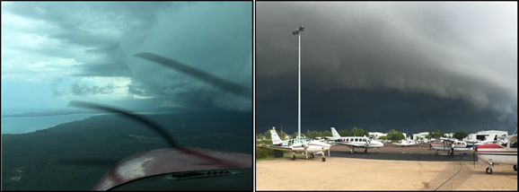 Figure 11: Large storm cell images illustrated in Air Frontier's Wet Weather Guide. Source: Operator, with permission