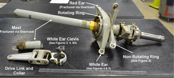 Figure 2: Components examined at Bell Helicopter's Engineering Laboratories. Source: Bell Helicopter