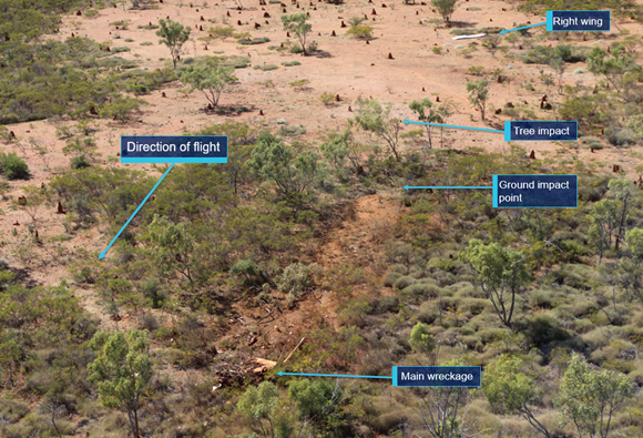 Figure 1: Accident site overview looking east. Source: ATSB
