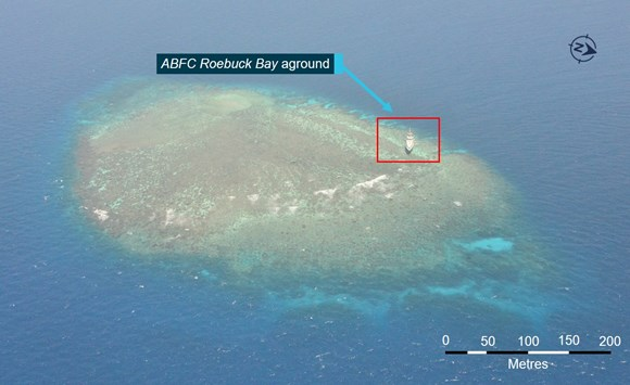 Figure 17: Henry Reef. Source: Australian Border Force, modified by the ATSB