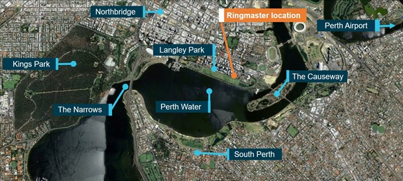 Figure 6: Perth Water. Source: Google Earth, modified by ATSB