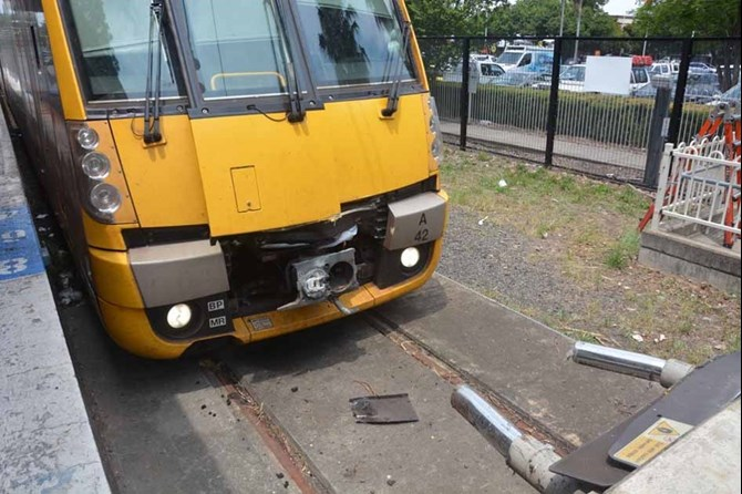 Waratah passenger train A42 collision with buffer stop, Richmond NSW