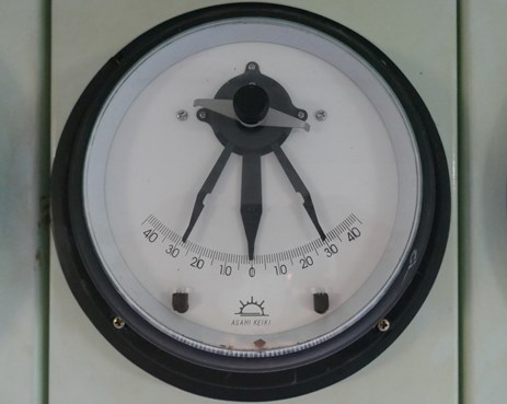 Figure 5: Inclinometer. Note semi-fixed indicators show the maximum roll encountered. Source: ATSB