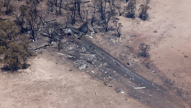 C-130 large air tanker accident site