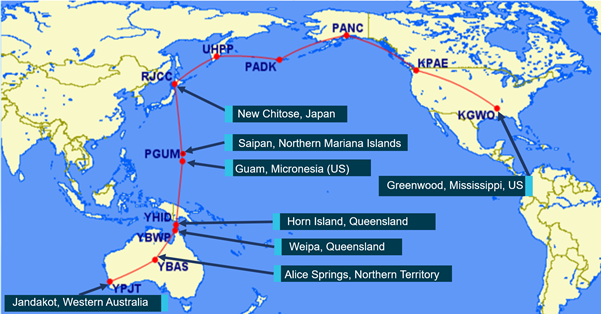 Figure 1: North Pacific Route.