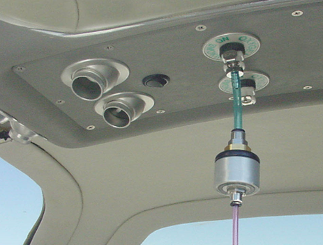 Figure 7: In-line regulator to connect EDS to aircraft oxygen outlet.
