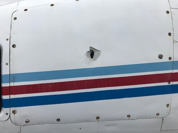 Figure 6: Forward fuselage damage.