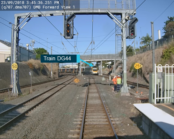 Figure 4: Train DG44 crossing the conflicting route.