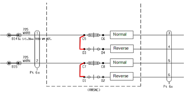 Figure 7: 705C points machine master circuit diagram.